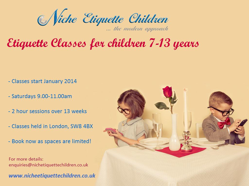 Etiquette Classes full details