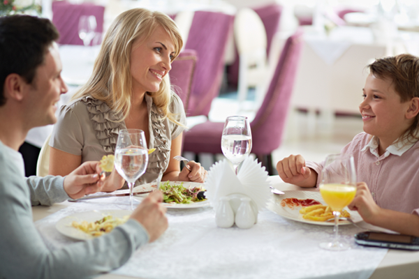 dining etiquette, manners, eating out
