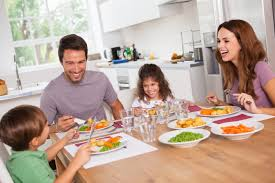 Mealtimes are a great chance to spend time together as a family
