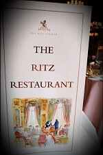 ritz restaurant london menu - British Etiquette Classes in London