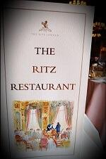 ritz restaurant london menu - British Etiquette in London